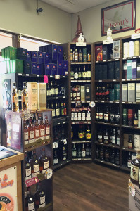 Great selection of spirits and liquor
